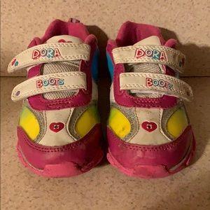 Girls Light Up Dora Sneakers. Still light up.